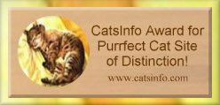 CatsInfo Award for Purrfect Cat Site of Distinction